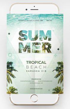 Free Summer Party Flyer - Dussk Design http://dusskdesign.com/shop/free-summer-party-flyer/
