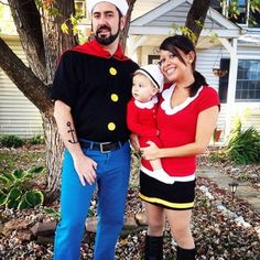 "<p>Start with sailor gear and transform into Popeye's posse this <a href=""http://www.parents.com/holiday/halloween/"" >Halloween</a> like Lisa Adams' family. Your little munchkin can play the role of Sweet Pea.</p>"