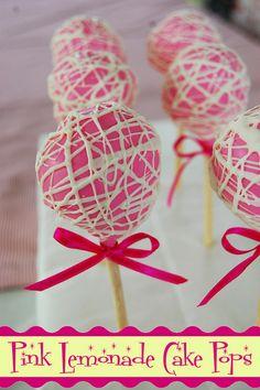 pink lemonade cake   Pink Lemonade Cake Pops   Flickr - Photo Sharing!