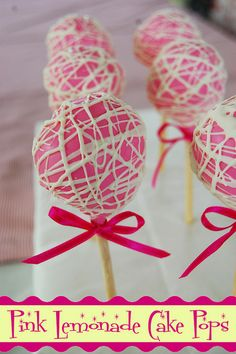 pink lemonade cake | Pink Lemonade Cake Pops | Flickr - Photo Sharing!
