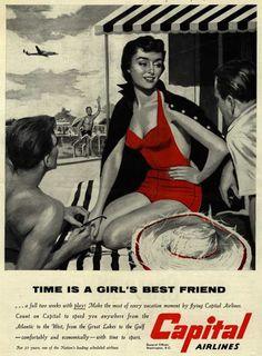 Vintage stewardess ads