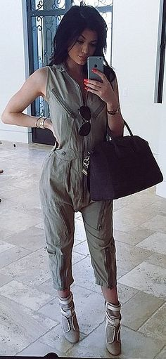 """Kendall and Kylie Jenner are launching a new clothing line! Kylie captioned this selfie, """"Go ahead and follow @kendallandkylie for some sneak peaks,"""" she wrote. Our only question: Is Kylie wearing any pieces from the new line?"""