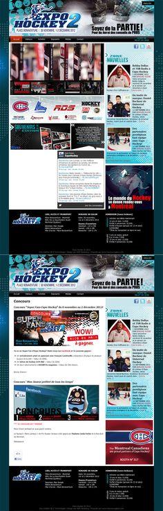 www.expohockey.com Site internet Expo Hockey, place bonaventure. Utilisation de la plateforme Wordpress pour être en tête de liste sur les moteurs de recherche les plus populaires. #siteweb #hockey #salon #bonaventure #sport #hiver #wordpress #id3