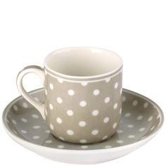 Greengate Espressotassen greengate stoneware spot beige warm grey this