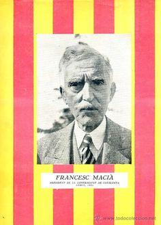 ORIGINAL DE ÉPOCA : FRANCESC MACIÀ, PRESIDENT DE LA GENERALITAT DE CATALUNYA - ABRIL 1931