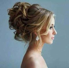 I love the texture to this! High updo, would the love veil to sit in the middle! Loving the curly bun look. (curly updo hairstyles for prom) Prom Hair Updo, Homecoming Hairstyles, Hair Dos, Curly Hair Updo Wedding, Quinceanera Hairstyles, Fancy Hairstyles, Wedding Hairstyles, Hairstyle Ideas, Bouffant Hairstyles