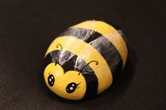 Hand painted Stone/ Bumblebee/ Painting by EmmysHeartsnCrafts