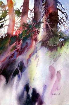 Usefull information watercolor trees, watercolor negative painting, abstrac Watercolor Trees, Watercolor Artists, Watercolor Landscape, Abstract Watercolor, Watercolor And Ink, Watercolour Painting, Landscape Art, Landscape Paintings, Watercolors