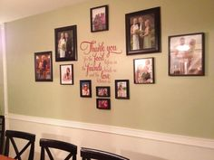 """""""Thank you for the food..."""" Vinyl Wall Cling"""