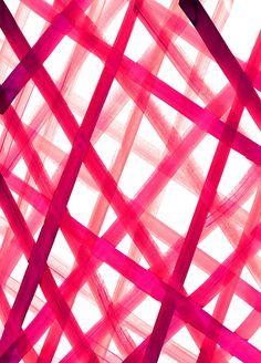 Criss Cross Pink Art Print