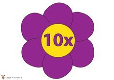 10 times table flower