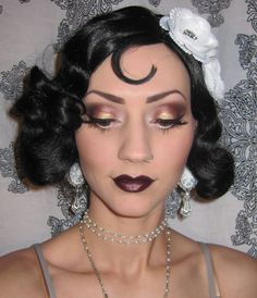 1920's makeup | Glitter is my crack...: 1920's Flapper Makeup/Costume look + Halloween ...
