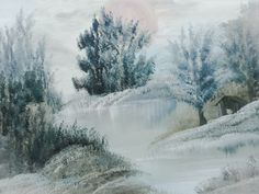 ©Let it is snow, painted by Iris Sun, oil on canvas www.irisunart.com