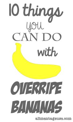 10 things you can do with overripe bananas - The Viet Vegan Leftover Banana Recipes, Banana Recipes Easy, Banana Breakfast Recipes, Ripe Banana Recipe, Baked Banana, Fruit Recipes, Recipies, Vegan Recipes, Healthy Snacks For Kids