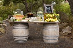 I like this! But I am also looking for 1 barrel to use in mydaughters wedding. Wouldnt mind renting one. wedding-ideas