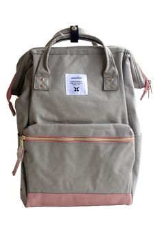 New Arrival :Authentic Anello ...  Detail at: http://lulugift.com/products/authentic-anello-japan-imported-canvas-unisex-multicolour-grey-backpack