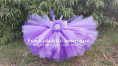 Purple Lavender First Ballerina Tutu Skirt by FunkidsandUsBoutique