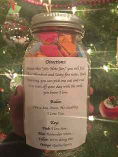 365 day note jar for boyfriend or girlfriend.