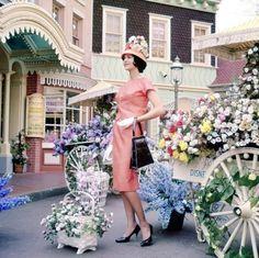 1960s fashion shoot at Disneyland