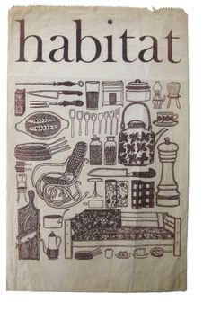 Very old Habitat paper bag