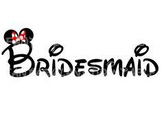 Bridesmaid Minnie Mouse Mickey Wedding DIY by FantasylandPrintable, $5.00