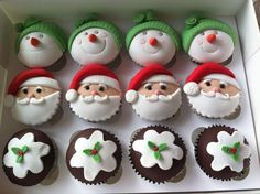 Christmas Cupcakes by Fairytale Cake Company, East Staffordshire, United Kingdom. You'll find this Cake Appreciation Society Member in our Directory at www.cakeappreciationsociety.com