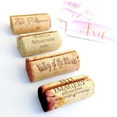 "Classic, single wine cork Place Card Holders - rustic simplicity, winery style! What People are Saying ""The corks are perfect, cut with precision!"" ""LOVED the final products. I ordered 80 of these cor"