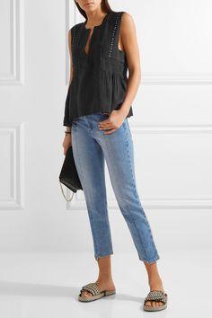 Étoile Isabel Marant   Adonis embellished cotton-blend gauze top   NET-A-PORTER.COM