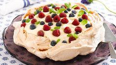 Oppskrift på dessert Pavlova kake, foto: Synøve Dreyer kilde: