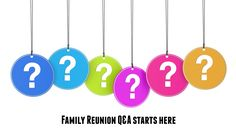 Note to self: Remember this family reunion question and answer site for future planning. Excellent way to connect with other family reunion planners.