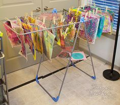 Art Journal Every Day: Drying Rack to the Rescue!