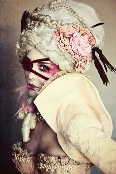 Dark Beauty Magazine baroque Marie Antoinette- makeup!                                                                                                                                                                                  More