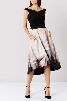VINA PRINT SKIRT + ALI BARDOT TOP  | Bridesmaid Separates from Coast | SouthBound Bride