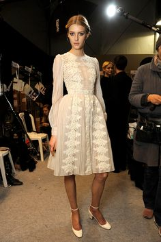 runway-report:  Sigrid Agren backstage at Valentino RTW F/W 2012