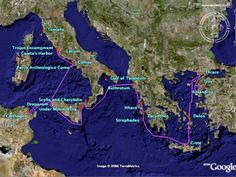 A Google Lit Trip map of The Aeneid, by Virgil