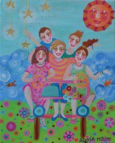 Alexia Molino - Vacanze con la zia (24x30 - regalo per una zia)