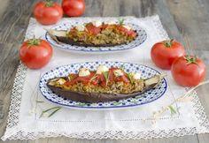 Berenjenas rellenas vegetarianas para #Mycook http://www.mycook.es/receta/berenjenas-rellenas-vegetarianas/