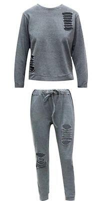 Plus Size Women Color Block Tracksuit 2Pcs Loungewear Long Sleeve Tops Pants Set