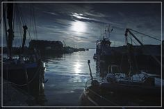 Moonshine at Whitstable Harbour by adrians_art