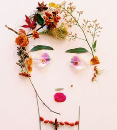 Justina Blakeney / Face the Foliage- what a fun idea to make faces with kids :)