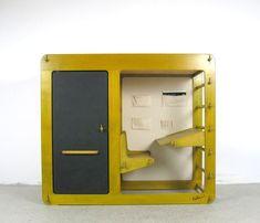 "Luigi Colani ""Rappelkiste"", Elbro/August Ellerbrok, Germany, 1975 Luigi, Colani, Branding, Diy Hacks, Tool Design, Bauhaus, Nintendo Consoles, Locker Storage, Modern Design"