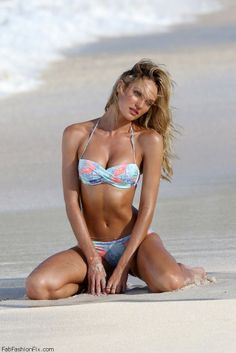 Candice Swanepoel posing in bikini for Victoria's Secret