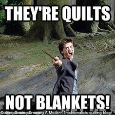 They're quilts not blankets!  if you make them you know what i'm talking about!