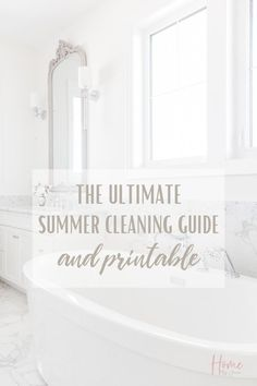 It's time to start the summer cleaning, here's exactly what to clean this summer so you can enjoy the warm sunny season. Grab the free checklist too. #checklist #tips #schedule #list #freeprintable #house #guide #cleanse via @homebyjenn Cleaning Checklist, Cleaning Routines, Cleaning Hacks, Daily Routines, House Chores, Decks And Porches, Organizing Your Home, Spring Cleaning, Getting Organized