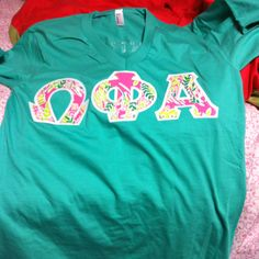 Lettered shirt but in ZTA <3