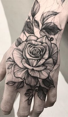 25 Male Tattoos on the Hands to Inspire - Photos and Tattoos , Rose Tattoo Hand, Arm Tattoo, Body Art Tattoos, New Tattoos, Small Tattoos, Sleeve Tattoos, Hand Tattoos For Guys, Tattoos For Women, Piercing Tattoo