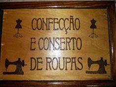 Placa Pirografada- Wood burning sign