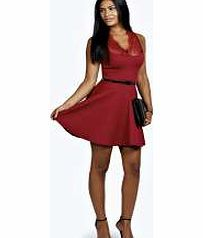 boohoo Nadine Scallop Lace Belted Skater Dress - berry This seriously stunning skater dress , with luxe lace detailing, is a real head turner. Well be wearing it with killer court heels , an elegant embellished clutch and dainty drop earrings . http://www.comparestoreprices.co.uk/dresses/boohoo-nadine-scallop-lace-belted-skater-dress--berry.asp