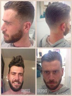 Cutting men's hair