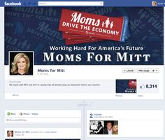 Moms for Mitt Facebook page